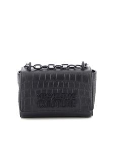 Versace Jeans Couture - Crocodile print leather bag