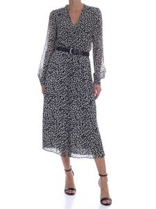 Michael Kors - Long dress with animal print in black