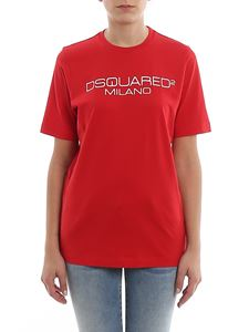Dsquared2 - Milano red cotton Tee