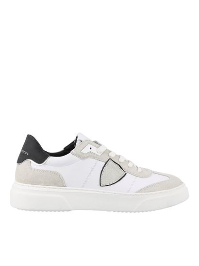 Philippe Model - Temple S leather and suede sneakers