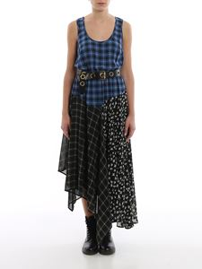 Michael Kors - Patchwork checked chiffon maxi dress