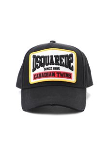 Dsquared2 - Canadian Twins baseball cap in black