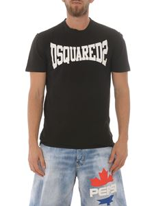 Dsquared2 - T-shirt in jersey con stampa logo lettering