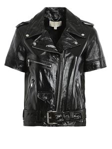 Michael Kors - Short sleeve leather jacket