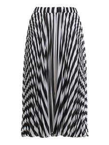Michael Kors - Striped pleated midi skirt