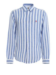 POLO Ralph Lauren - Button-down shirt with blue and white stripes