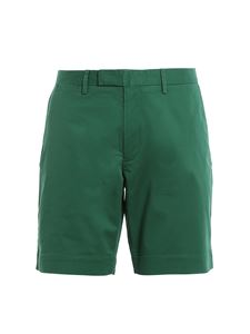 POLO Ralph Lauren - Pantaloni corti in cotone stretch verde