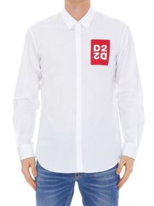 Dsquared2 - Logo printed shirt in white