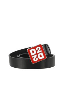 Dsquared2 - Squared logo buckle leather belt