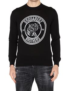 Dsquared2 - Logo embroidery wool crew neck sweater