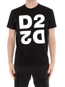 Dsquared2 - T-shirt in jersey con stampa logo D2