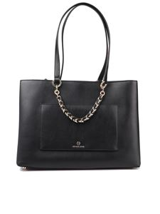 Michael Kors - Cece medium black chain tote