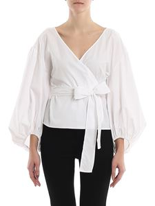 Michael Kors - Balloon sleeved wrap blouse