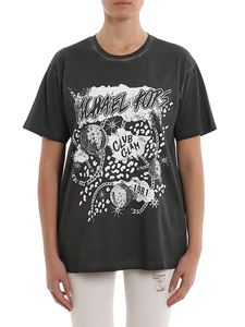 Michael Kors - Club Glam print washed black T-shirt