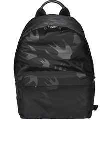 McQ Alexander Mcqueen - Swallow printed backpack