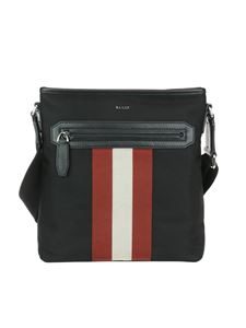 Bally - Currios black tech fabric messenger bag