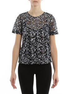 Michael Kors - Sequined flowers tulle blouse