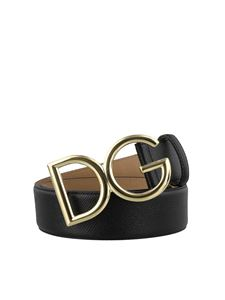 Dolce & Gabbana - Black Dauphine leather belt