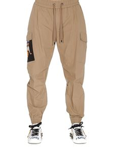 Dolce & Gabbana - Pin-up print cargo trousers