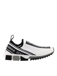 Dolce & Gabbana - Stretch mesh Sorrento slip-on sneakers