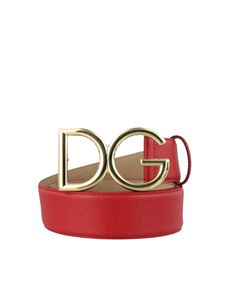 Dolce & Gabbana - Red Dauphine leather belt