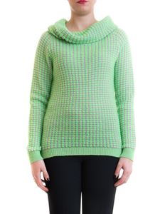 Blumarine - Patterned sweater with cowl collar