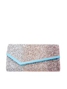 Jimmy Choo - Emmie tri-colour glitter clutch