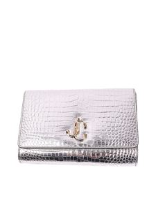Jimmy Choo - Varenne croco print leather clutch