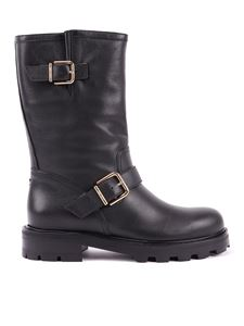 Jimmy Choo - Biker II smooth leather boots
