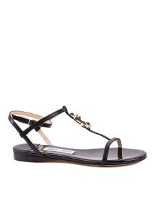 Jimmy Choo - Alodie black patent leather and nappa sandals