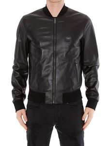 Dolce & Gabbana - Logo plaque leather bomber jacket
