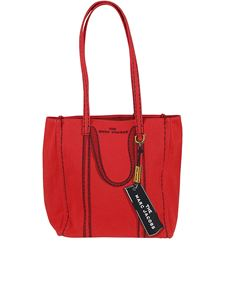 Marc Jacobs  - The Trompe l'Oeil Tag red canvas tote