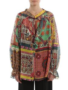 Etro - Patchwork printed blouse