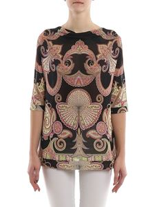 Etro - Patterned knitted viscose blouse