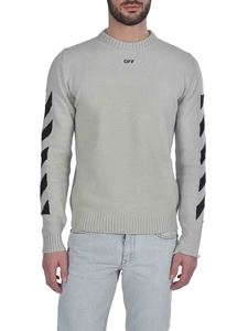 Off-White - Diag crewneck pullover in loght grey