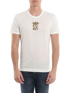 Dolce & Gabbana - Crown and logo embroidery jersey t-shirt