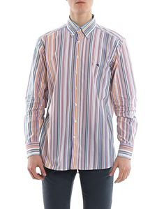 Etro - Chest logo embroidery striped shirt