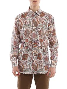 Etro - Paisley printed shirt in white and brown