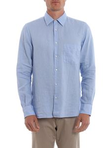 Aspesi - Shirt with patch pocket in light blue