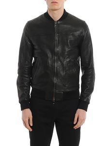 Dolce & Gabbana - Leather bomber jacket