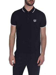 Kenzo - Tiger Crest polo shirt in black