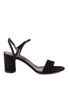 Casadei - V Celebrity black suede sandals