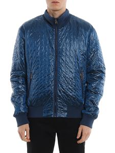 Dolce & Gabbana - Petrol blue quilted jacket