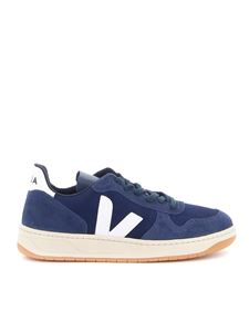Veja - V-10 suede and fabric sneakers