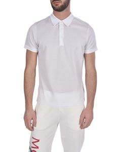 Moncler - Three buttons polo shirt in white