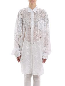 Ermanno Scervino - Crystal broderie anglaise shirt dress