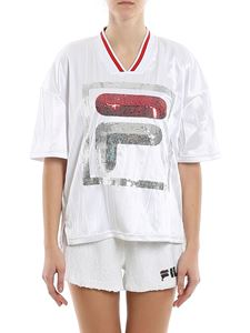Fila - Miu sequined maxi logo T-shirt