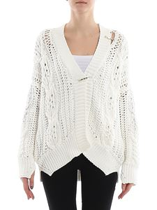 Ermanno Scervino - Crystal detail cable knit cardigan