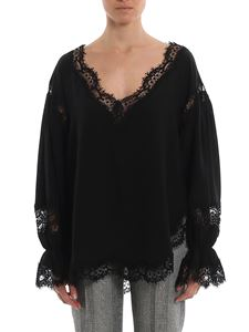 Ermanno Scervino - Lace scalloped hems blouse