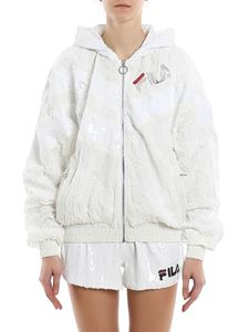 Fila - Rina sequined hooded jacket